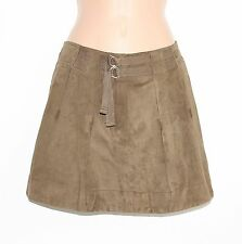 VTG Green 100% Real Leather ATHE VANESSA BRUNO Mini Ladies Skirt size W 32 Boho