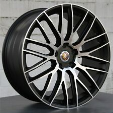 "SET(4) 22"" 22X10 WHEELS RIMS PORSCHE CAYENNE TURBO GTS S Q7 BLACK MACHINE 4 NEW"