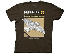 FIREFLY Serenity Hanes Owners' Workshop Manual T-Shirt SMALL / NEW!  Ship