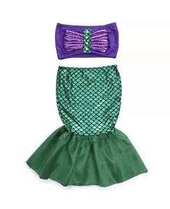 BabyGirl Infant toddler Mermaid Costume Dress Outfit Suit Ariel little Mermaid