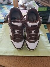WOMAN'S FOX BROWN &WHITE LEATHER SNEAKERS