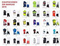 Equipacion ciclismo sin mangas sleeveless cycling maillot jersey ropa vélo sets