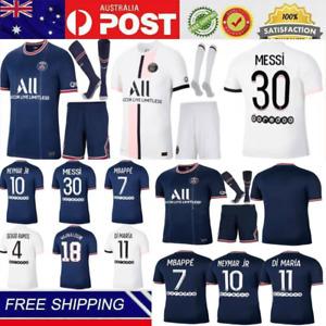21/22 Paris Soccer Tracksuits PSG Home/ Away T-Shirt& Shorts& Socks Train Kits