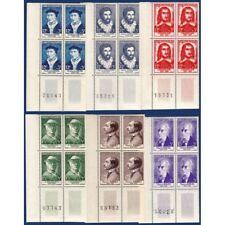 No__1066 A 1071 CELEBRITES XVe AU XXe SIECLE, BLOCS DE 4 TIMBRES NEUFS**, 1956