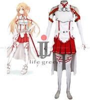 Sword Art Online Asuna Yuuki Uniform Cos Clothing Cosplay Costume