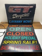 Old School BMX GT Bicycles Dealership Sign Light Up Working Pro Series PFT 90s