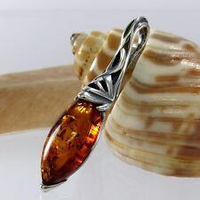 A288 Keltische Knoten Celtic Bernstein Anhänger 925 Silber Schmuck Amber