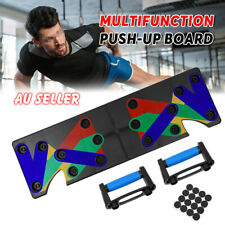 New listing 9 in1 Push Up Board Rack Pushup Handles Workout Fitness Training Gym Sport Stand