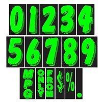 """WINDSHIELD NUMBER """"BEST PRICE"""" green and black   11 dozen  7 1/2 inch"""