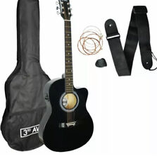 3rd Avenue Full Size Electro Acoustic Guitar and Accessories - Black