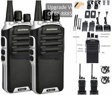 2 Pack LONG Range Security Patrol Police Two Way Radio Walkie Talkie Set, BLACK