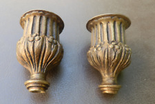 Ancienne paire de bobèches en bronze pour chandelier XIXéme