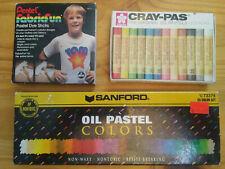 Pastels, Used, 3 Boxes, Sanford, Cray-Pas, Pentel, Art Supplies