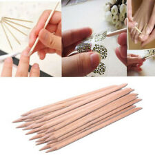 50Pcs Orange Wood Sticks for Nail Art Cuticle Pusher Remover Manicure Too ST