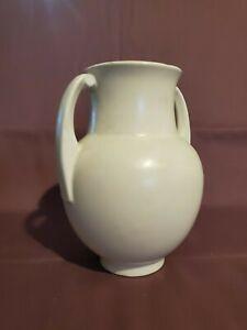 """ROSEVILLE POTTERY Art Pottery ORIAN Off White Color Vase 6.5"""" Tall VTG MCM"""