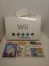 Nintendo Wii Console CIB & Classic Controller & Extra games Complete