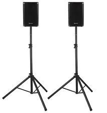 "2x DJ PA 8"" Aktiv Lautsprecher Set Box Bluetooth Monitor Stativ Stereo 800W"