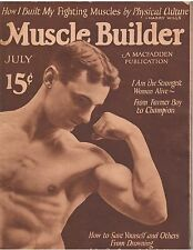 MUSCLE BUILDER bodybuilding magazine/Charles MacMahon 7-24 Very Rare 5th Issue