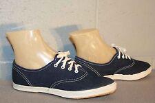 4.5 New Vtg 70s NAVY BLUE DENIM CANVAS USA SNEAKER TENNIS NOS Rockabilly Shoes
