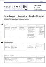 Telefunken Original Service Schaltplan für STT 1 hifi