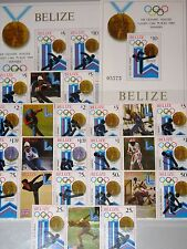 BELIZE 1980 501-08 A Zf Block 20-21 503-12 Winter Olympics Lake Placid Sport MNH