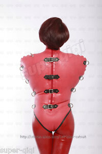 Latex/Rubber .8mm Inflatable Leotard Top suit straight jacket inner sleeve heavy