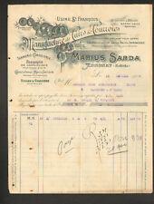 """ANNONAY (07) USINE de ST-FRANCOIS / TANNERIE CUIR & COURROIE """"Marius SARDA"""" 1908"""
