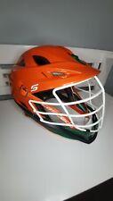 Cascade S Lacrosse Helmet Adult Orange Shell & Visor, Green Chin w/ White Mask