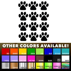 12 Dog Cat Animal Paw Print Decals vinyl wall decals stickers home window door