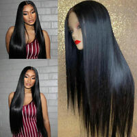 Deluxe Silk Top Full Lace Wigs Straight Peruvian 100% Human Hair Lace Front Wigs