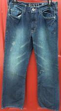 Men's Guess Jeans Cliff Boot Cut Sz 29 Distressed 100% Cotton Mid rise Inseam 32