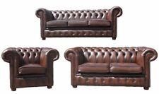 Sofagarnitur Chesterfield Leder Sitz 3+2+1 Polster Couch Set Garnitur Neu 201853