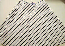 NWT WOMEN'S RALPH LAUREN A-LINE  SKIRT WHITE/BLACK SIZE 4 LINED RETAIL $79
