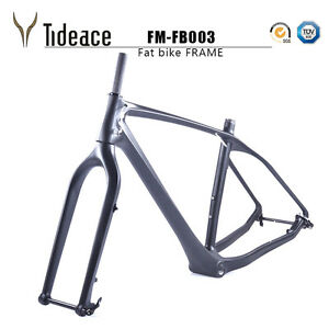 T800 Full Carbon Fiber Snow Bike Fat Bicycle Frames+Fork+Headset Snow Bicycle