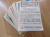 PANINI FOOTBALL 86 - 1986 - Vente à l'unité  de stickers originaux  neufs