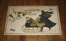 SLED Throw RUG/Mat*Grandmother Christmas Gift*Primitive/French Country Decor