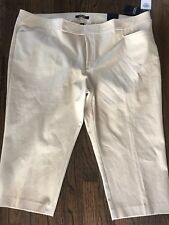 Womens Plus Chaps Slimming Fit Crop Pants Size 24 NWT