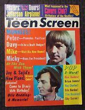 1968 March TEEN SCREEN Magazine G/VG 3.0 Monkees Beatles Doors Stones