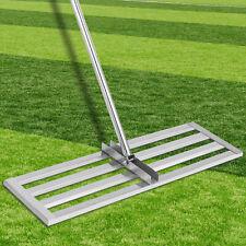 """VEVOR Lawn Leveler Tool Lawn Level Rake 17""""x10"""" Stainless Steel 6.5ft Leveler"""