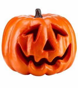 Giant Pumpkin Head Jack O'lantern Halloween Party Decoration Vibrant Orange 33cm