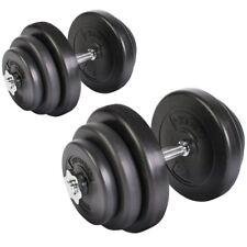 Manubri Corti Set Pesi con dischi Palestra fitness x2 Pz totale 40 kg Physionics
