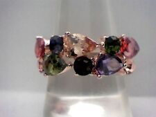 """""""ALL NEW"""" Multi-Gemstone Beauty set into a 14Kt Rose Gold Filled Ring Size 6"""