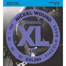 D'Addario EXL280 Nickel Wound Piccolo Long Scale Bass Strings (20-52)