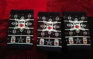 DALLAS COWBOYS MILLER LITE 3 Piece Rare Ugly Sweater Winter Coozies Koozies