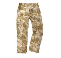 CAMOUFLAGE COMBAT CARGO TROUSERS MENS 32 R Heavy duty Army desert camo bottoms