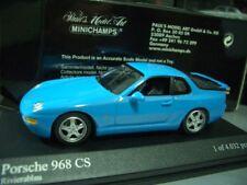 1/43 Minichamps Porsche 968 CS 1993 Blue diecast