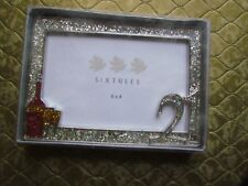 21st Birthday Glitter Metal Frame By Sixtrees