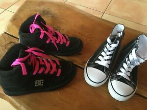 Baskets DC Shoes 34 + 1 paire de basket montante cadeau Fille