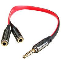 Klinke Y Kabel 3,5mm Stecker auf 2x Buchse Stereo Kopfhörer Verteiler Kabel Neu
