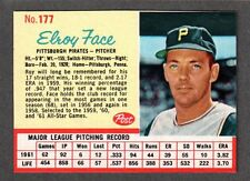 1962 POST CEREAL #177  Elroy Face  PITTSBURGH PIRATES  EX-MINT   A